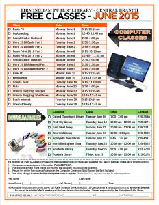 June 2015 Classes