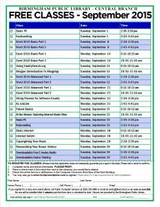 September 2015 Classes Image